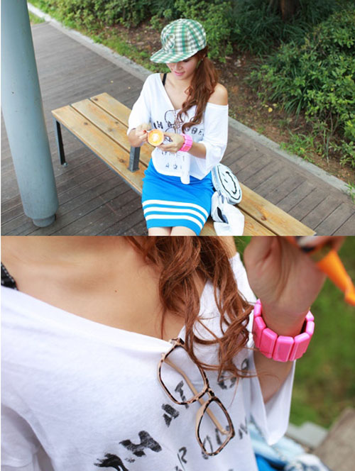 Super HOT short t-shirt autumn multilayer creative mashup